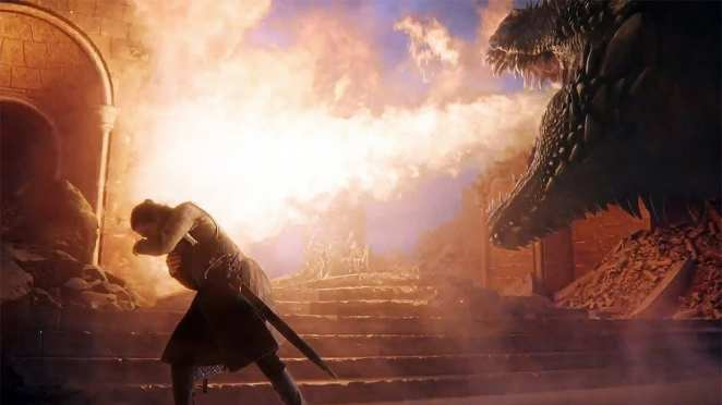 Drogon melts the Iron Throne in the Game of Thrones finale