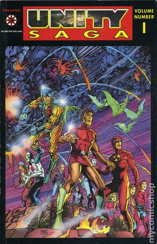 Barry Windsor Smith artwork for both Unity #0 and the Unity Saga Volume 1.