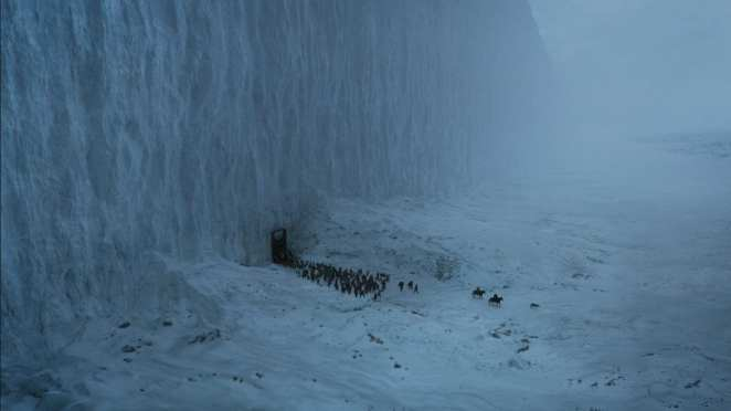 The Walls Gate opens for the Free Folk to take Jon Stark home in the Game of Thrones finale