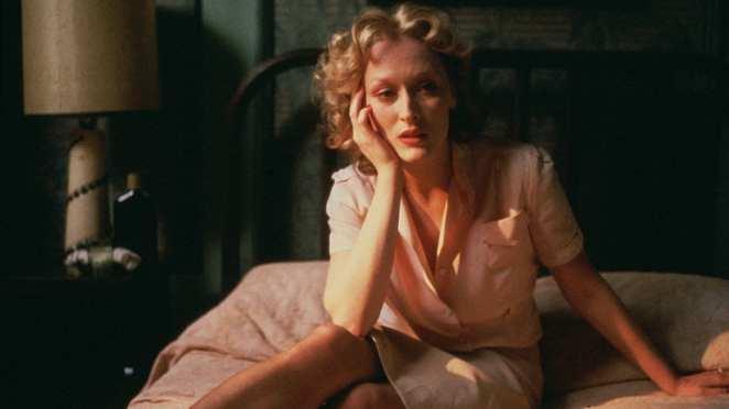 Meryl Streep as Sophie in the movie Sophie's Choice