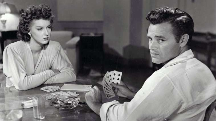Tom Neal and Ann Savage in the noir classic, Detour