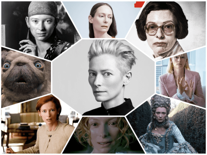 A visual compilation of Tilda Swinton's performances