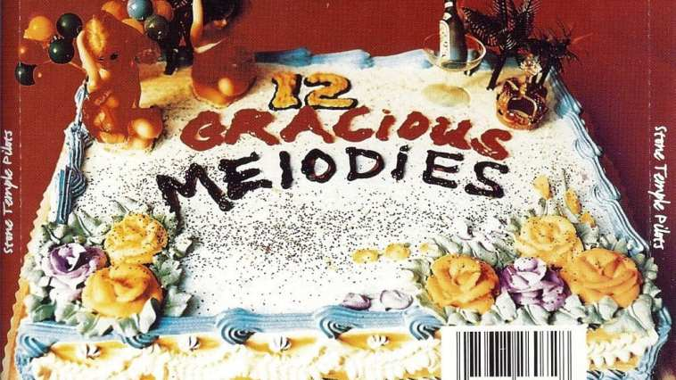 The back cover of Stone Temple Pilots' Purple has a cake on it.