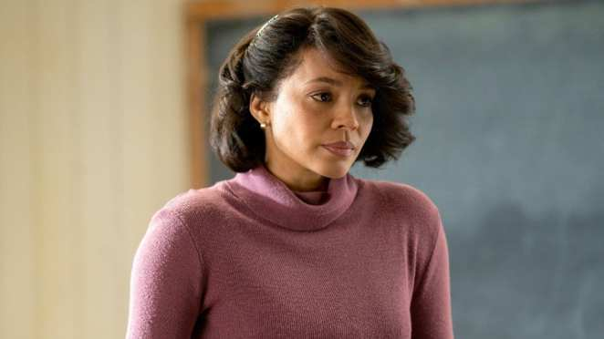 Carmen Ejogo in the classroom where she teaches in HBO's True Detective