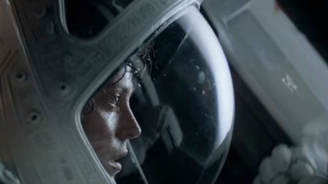 Ripley escapes a self-destructing ship in the final scene of Alien
