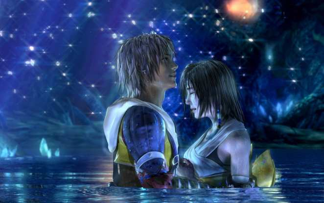 Yuna and Tidus Lake Scene
