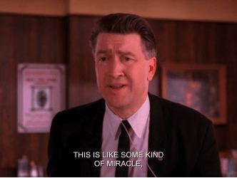 "Gordon Cole says, ""this is like some kind of miracle"" in Twin Peaks"