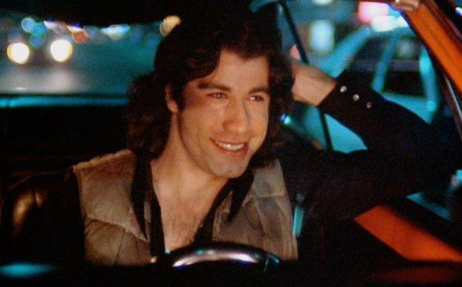 Billy Nolan (John Travolta) goes cruising in Brian DePalma's Carrie (1976).