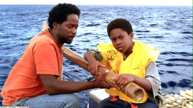 Michael and Walt on the raft in Exodus Part 2