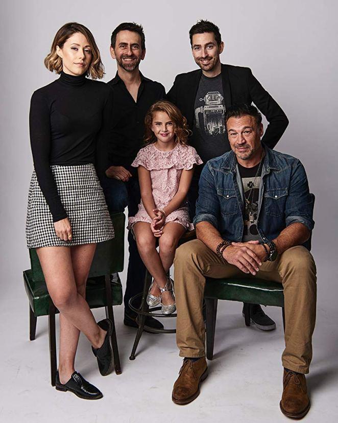 Aleks Paunovic, Zach Lipovsky, Adam B. Stein, Amanda Crew, and Lexy Kolker press photo for Freaks