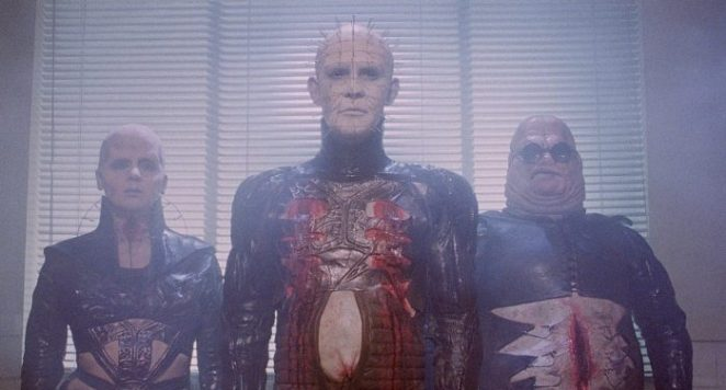 The cenobites in Hellraiser stand in a hospital room