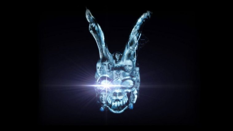 Bunny logo with bright white light from eye socket