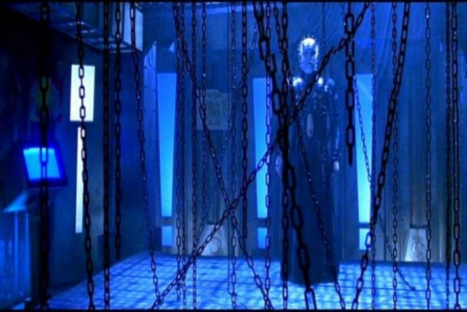 Pinhead with his favorite weapons in Hellraiser: Bloodline