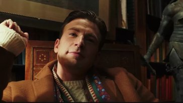 chris evans in rian johnson's knives out