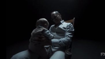 Farouk holds a baby David on Legion