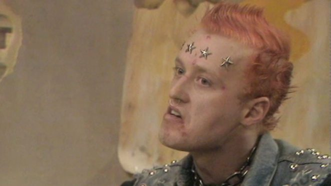 Adrian Edmondson as Vyvyan Basterd in the BBC show The Young Ones