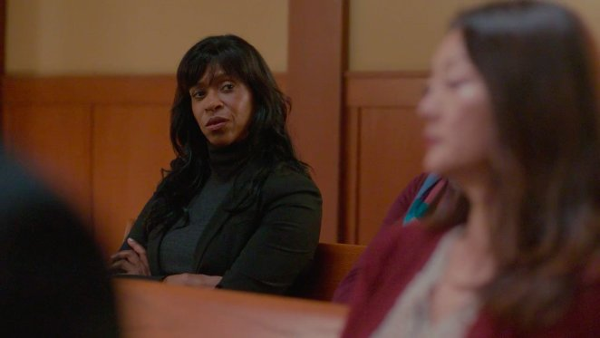 Merrin Dungey as Detective Quinlan in Season 2 of Big Little Lies