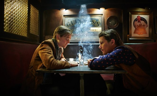Sarah Snook (John/Jane) and Ethan Hawke (time traveler/bartender) anchor Predestination with two outstanding performances.