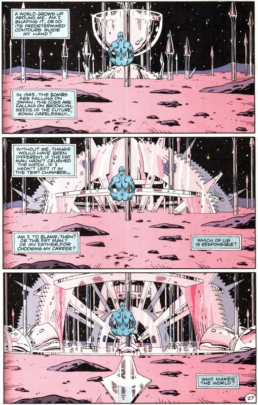 Scene from the Watchmen graphic novel in which Dr. M creates his new home on Mars