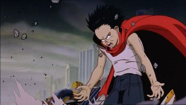 Tetsuo starts to experience telekinetic rage in Akira.