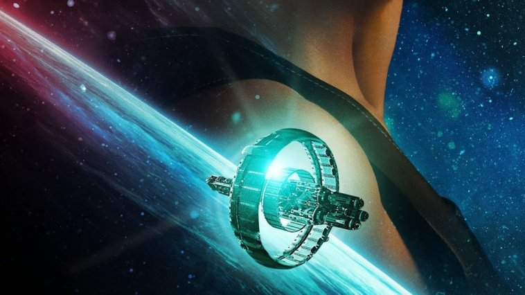 There is a ship in space on a poster for Another Life
