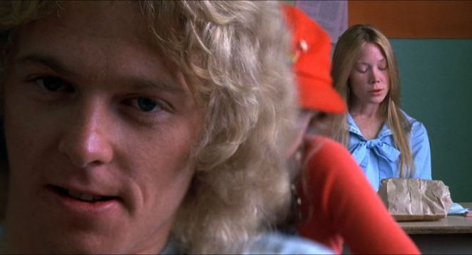 This diopter show from Carrie shows Tommy prominent and Carrie in the background, the same space their characters occupy