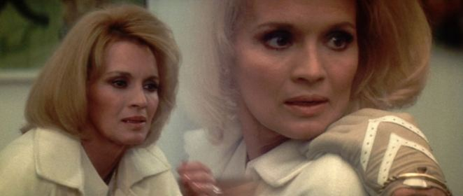 An early diopter shot from Dressed to Kill shows Angie Dickinson remembering where she lost her glove