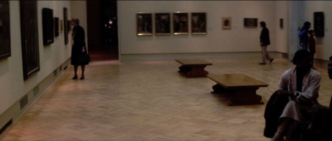In an early scene from Dressed to Kill, de Palma revisits one of his favorite settings (New York's Metropolitan Museum of Art)