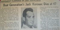Jack Kerouac Obituary, 1969