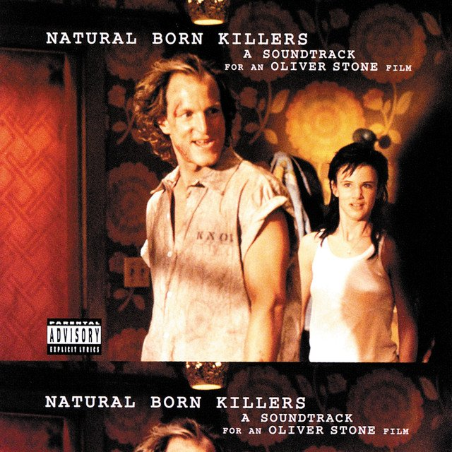 The Natural Born Killers soundtrack has an image of Mickey and Mallary smiling after they'd caused some trouble.