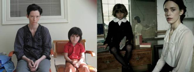 Double Image: Kevin (Rock Duer) and Prescott (Tom Sweet) sit sullenly next to Eva (Tilda Swinton) and Ada (Stacy Martin)