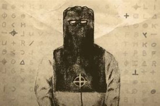 An artists impression of the Zodiac killer in his executioners costume as witnessed in September 1969.