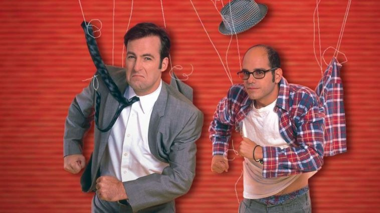 Bob Odenkirk and David Cross run with strings attached to them