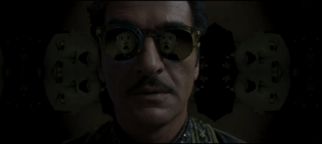 Farouk puts on the glasses and sees the life he has lived