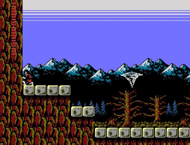 Simon crouches in front of Deborah Cliff with a red crystal until a tornado takes him to a secret area. Naturally.