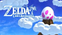 The title screen for Link's Awakening