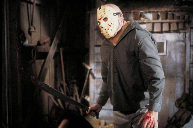 Jason Voorhees wears a hockey mask for the first time but its not Jason