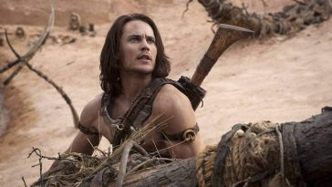 John Carter speaks with resolve to his comrades before battle.