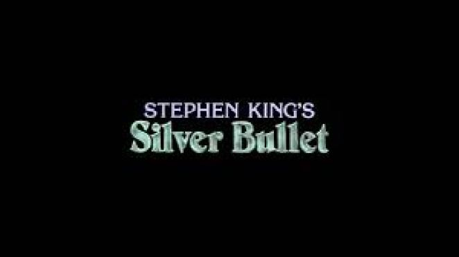 The title screen from Silver Bullet