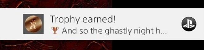 Trophy Earned for beating Castlevania II on the PS4