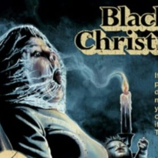 poster for Black Christmas shows a woman with a plastic bag over her head and holding a candle