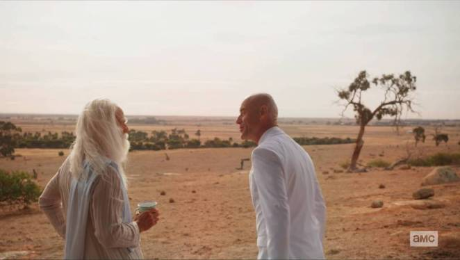 Herr Starr and God stand in the Outback discussing Humperdoo