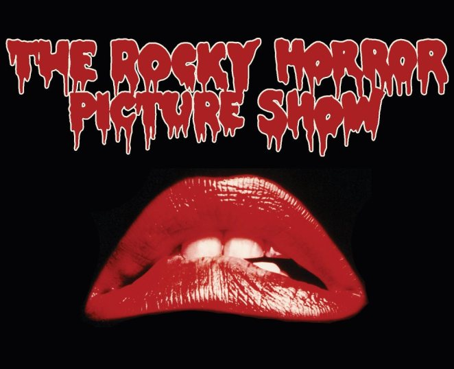 Red lips from the opening sequence of The Rocky Horror Picture Show