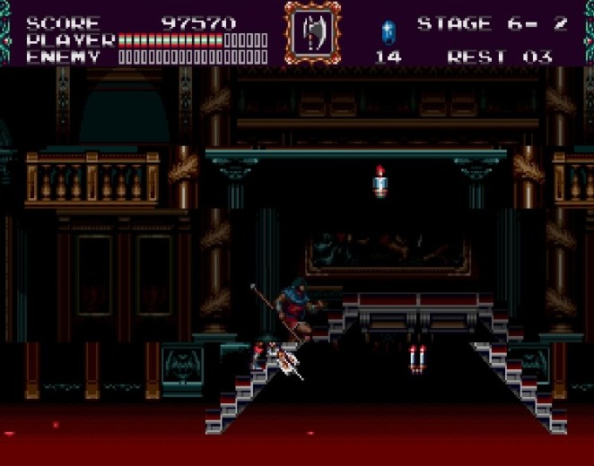 The game distorts reality and fractures the screen and makes Eric's progress through the gothic Proserpina Castle even more daunting.