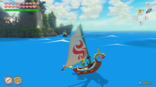 Link sails in the King of Red Lions along the Great Ocean
