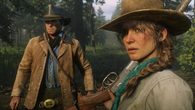 Arthur Morgan meets the widow Sadie Adler