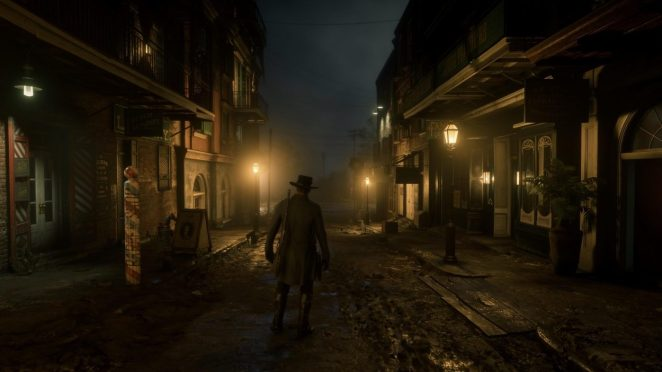 The quiet streets of Saint Denis at night