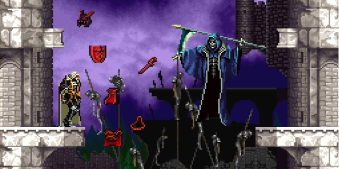 Death steals all of Alucard weapons and defense items