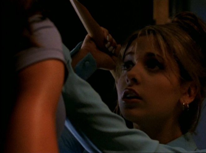 Buffy mistakenly attacks Cordelia with a stake