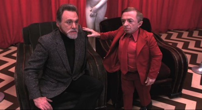 Mike and the Man from Another Place in the Red Room